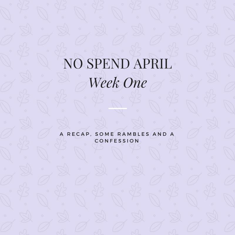 No Spend Week One