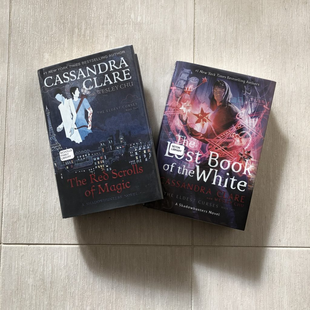 The Red Scrolls of Magic and The Lost Book of the White books by Cassandra Clare and Wesley Chu