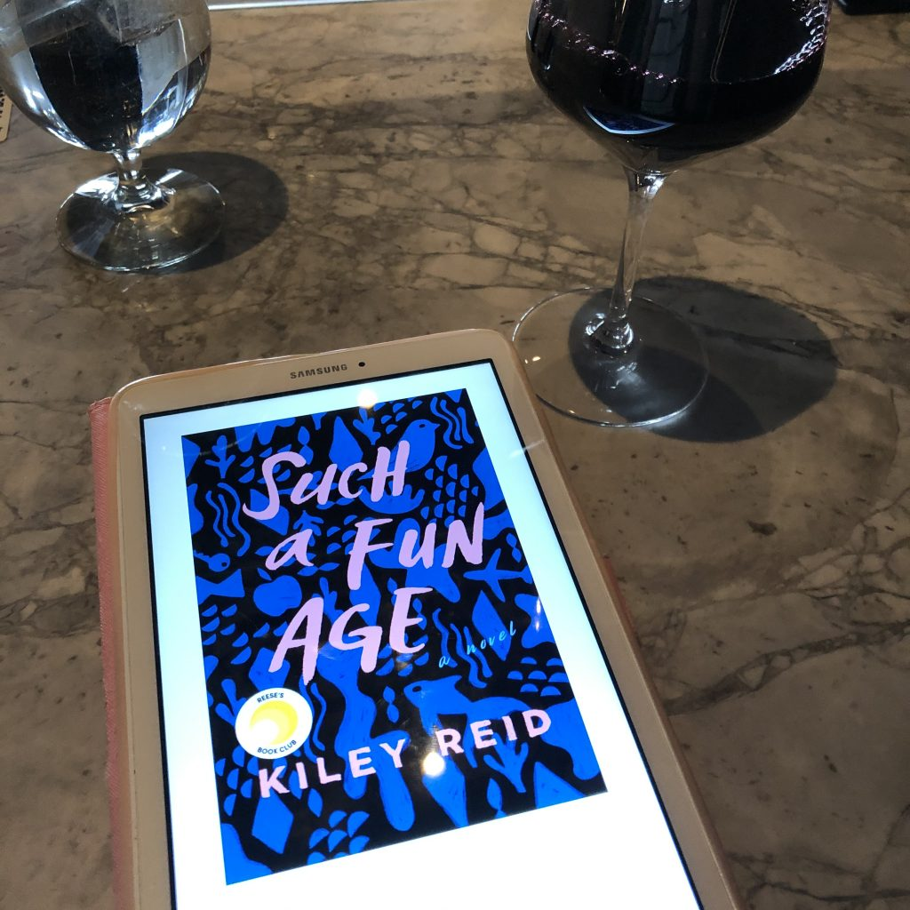 Such a Fun Age by Kiley Reid (book and wine)
